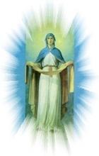 фрагмент иконы Покрова (омофор) Богородицы